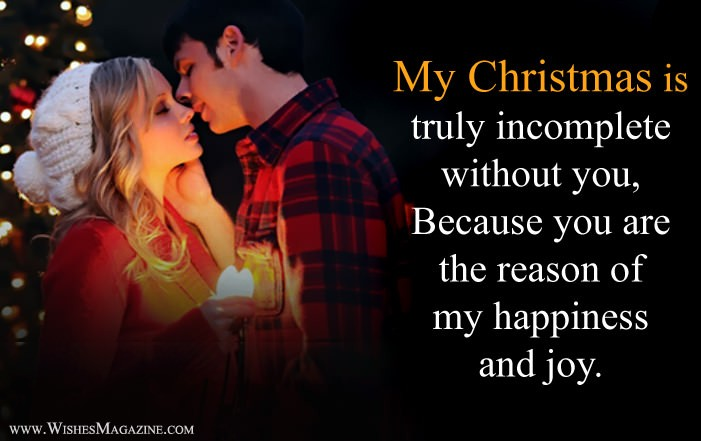 Romantic Christmas Wishes For Girlfriend Boyfriend