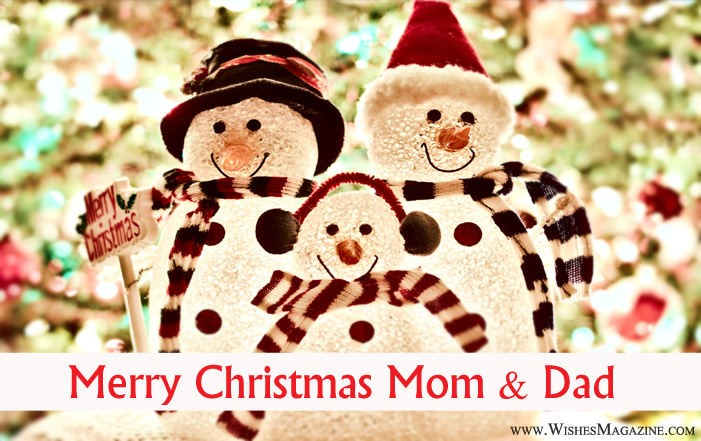 Merry Christmas wishes for mom and dad