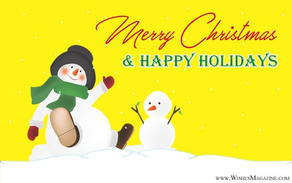 Happy Holidays Wishes | Christmas holiday Messages Greetings