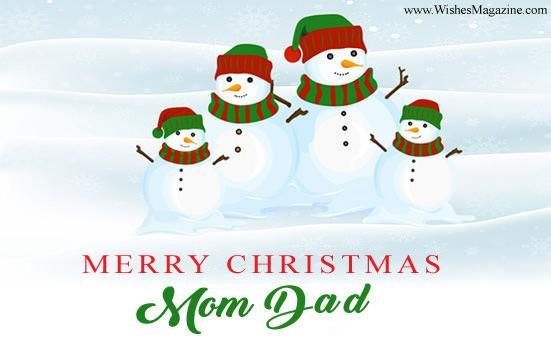 Merry Christmas Mom Dad
