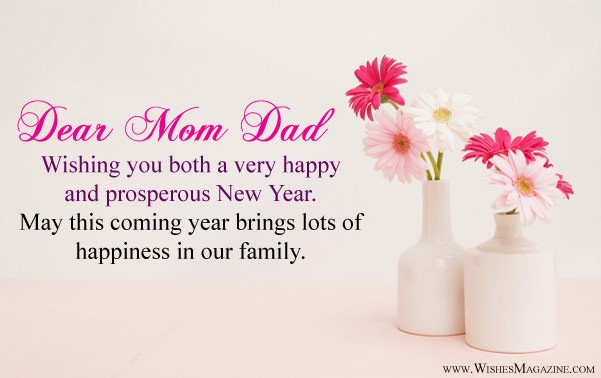 happy new year wishes for mom dad new year message to parents