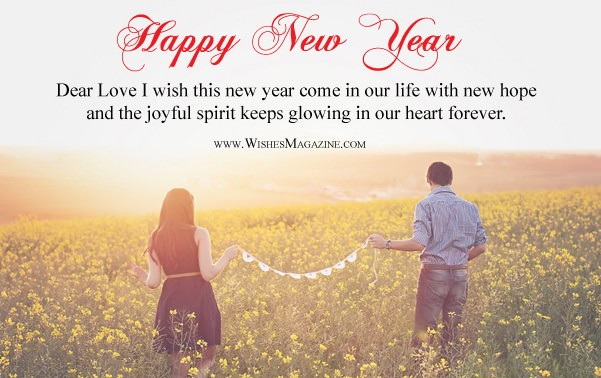 happy new year wishes for girlfriend boyfriend