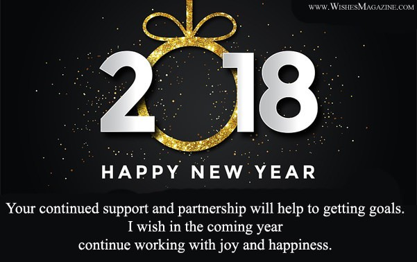 happy new year wishes for boss and colleagues