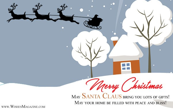 Merry Christmas greeting Cards Santa Claus Christmas Card Ideas With Wishes