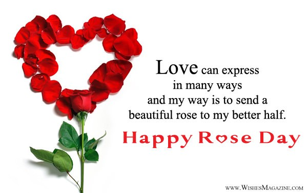 Happy Rose Day Wishes For Husband Wife | Rose Day Msg For Couple