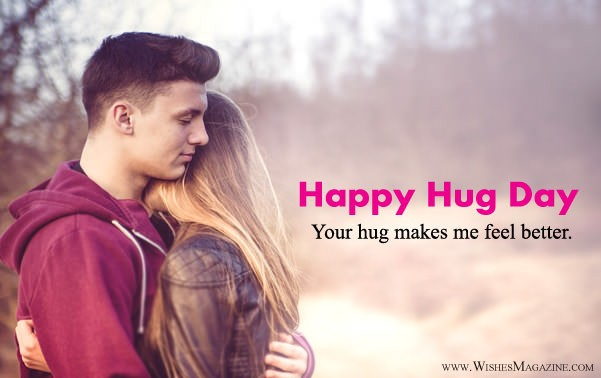 Happy Hug Day Wishes Messages For Girlfriend Boyfriend