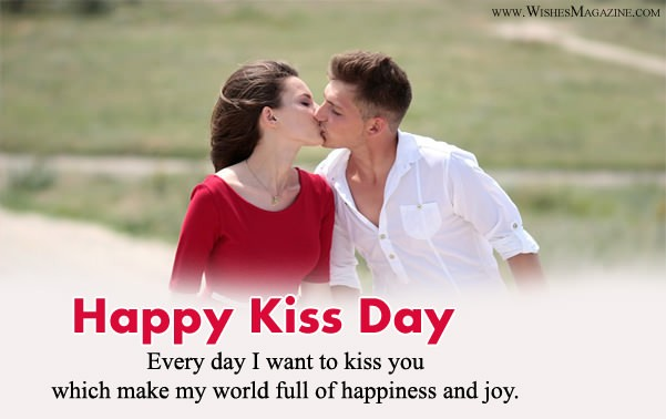 Happy Kiss Day Wishes Messages For Girlfriend Boyfriend