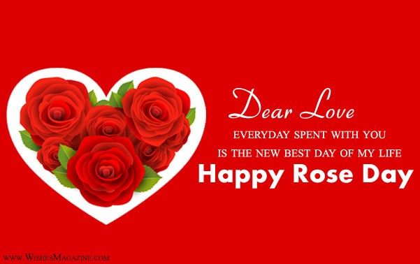Happy Rose Day Card | Rose Day Greeting Card With Love Messages