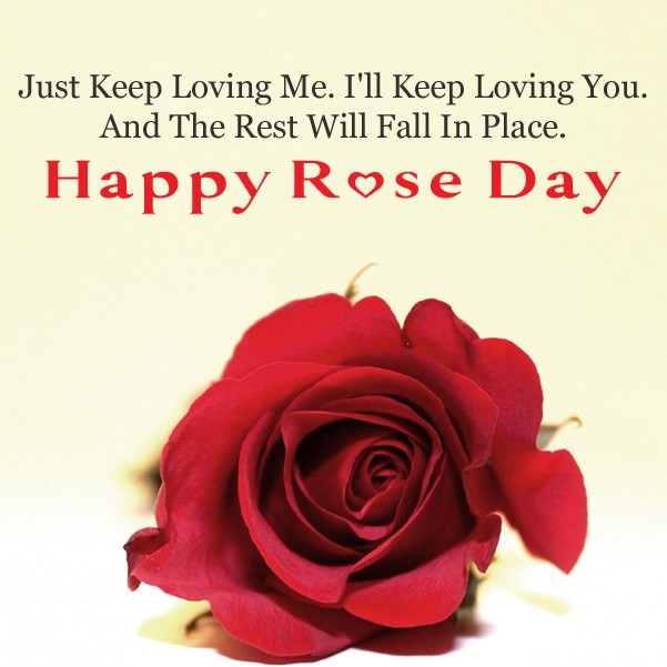 Rose Day Card With Romantic Message