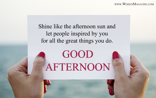 Latest Good Afternoon Wishes | Happy Good Afternoon Messages