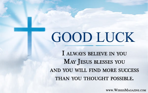 Religious Good Luck Messages Greeting Card