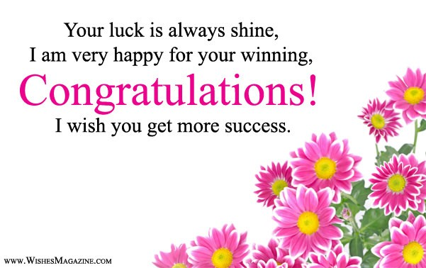 Congratulations Wishes Messages For Winning