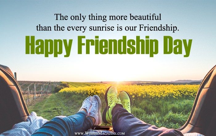 Friendship Day Card With Text Message.