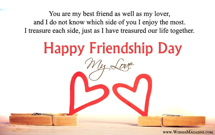 Romantic Friendship Day Card For Gf Bf