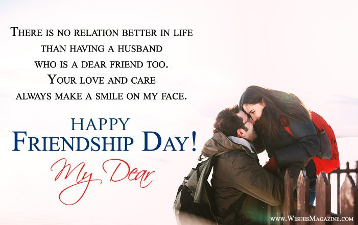 Friendship Day Wishes For Husband Wife