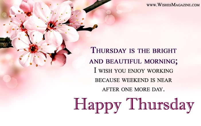Happy Thursday Messages | Thursday Morning Wishes