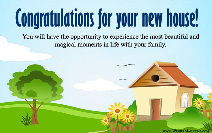 Congratulations Wishes Messages For New House