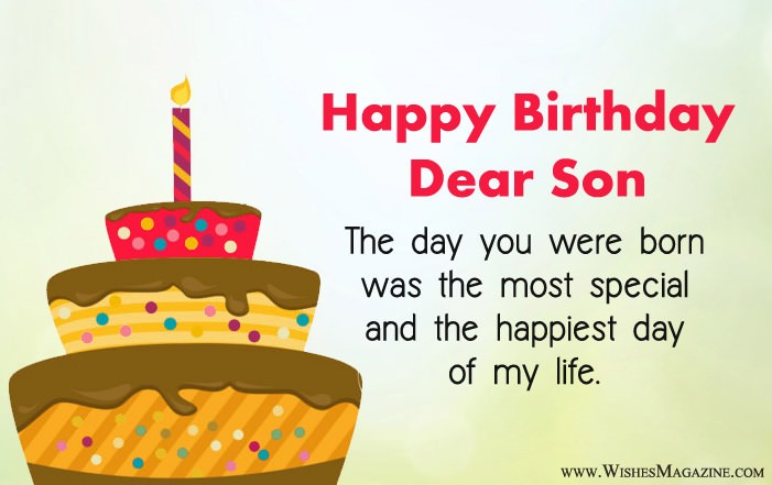 Birthday Wishes For Son Happy Birthday Message To Son
