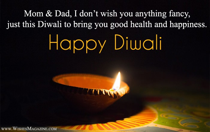 Happy Diwali Wishes For Mom Dad