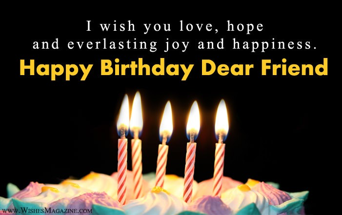 Happy Birthday Wishes Messages for Friends - Latest Birthday Messages