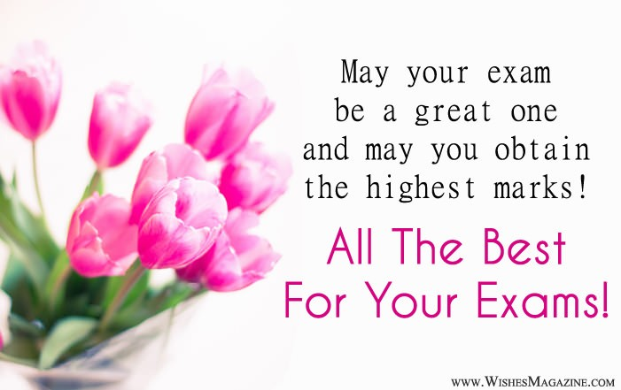 Good Luck Messages For Exams - Best Wishes For Exam