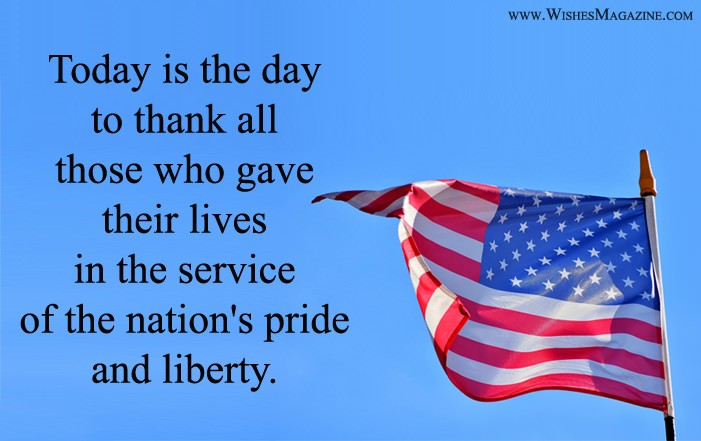 Memorial Day Thank You Messages Quotes Sms