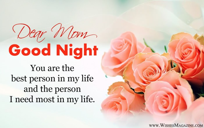 Good Night Wishes Messages For Mother