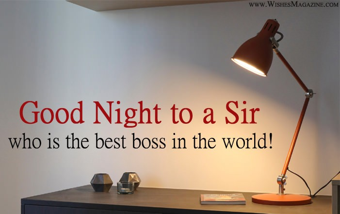 Good Night Wishes Messages For Boss