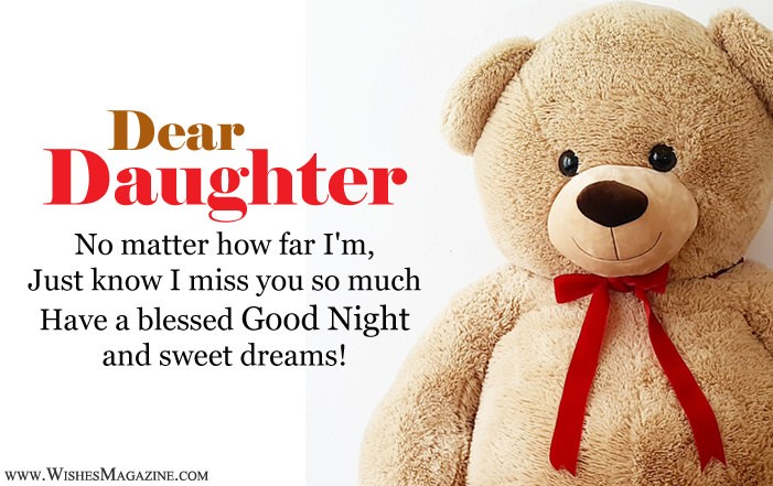 Good Night Wishes For Daughter