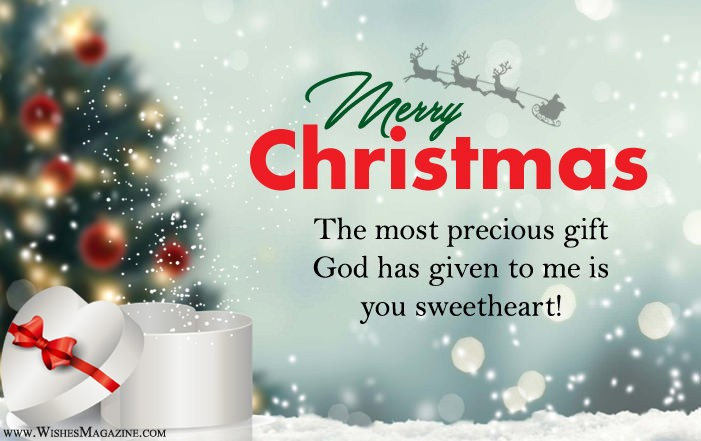 Romantic Christmas Wishes Messages